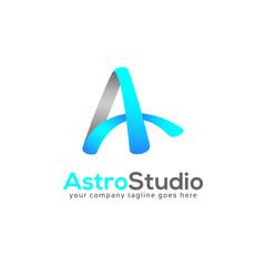 Astro Studio Letter A Logo