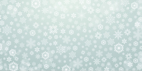 Winter & Christmas background snowflake - vector pattern