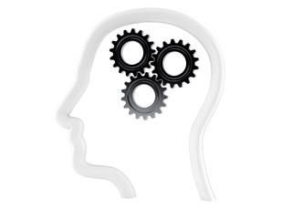 Gears inside human head