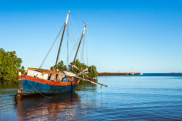 Malagasy schooner beached