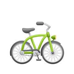 Green Bicycle - Novo Icons. A professional, realistic pixel-aligned icon.