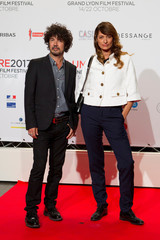 Music productors Yarol Pupaud and Caroline de Maigret attend the opening of the Lumiere 2017 Grand Lyon Film Festival, in Lyon