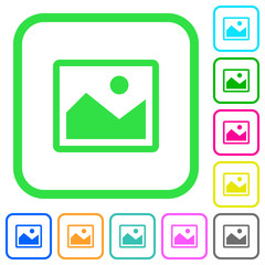 Single picture vivid colored flat icons icons
