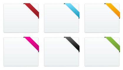 the collection of blank banners with ribbon