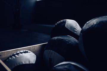 Medicine Balls box in gym