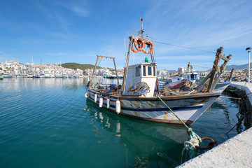 Fishing Boat in a harbour.