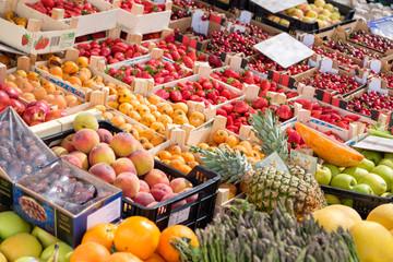 Fresh organic fruits and vegtables.