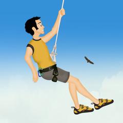 man free climber