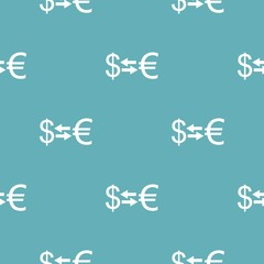 Currency exchange pattern seamless blue