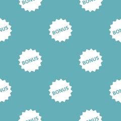 Bonus sign pattern seamless blue
