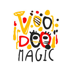 Voodoo African and American magic logo text