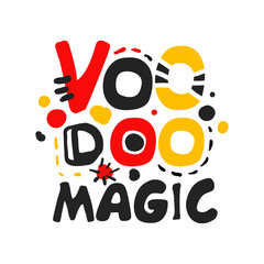 Voodoo African and American magic logo