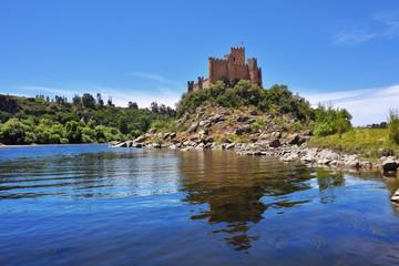 Fotobehang Kasteel Medieval castle of Almourol in Ribatejo, Portugal