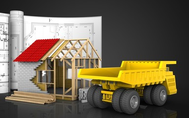 3d of frame house