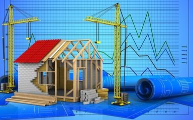 3d of frame house