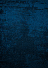 Blue dark background of school blackboard colored texture. Blue black vignetted aged texture background.