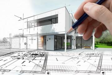Esquisse d'une maison d'architecte
