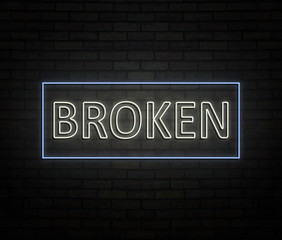 Broken neon concept.