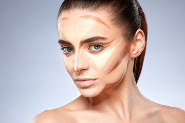 Girl with contouring