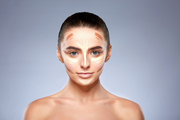 Girl with contouring on face