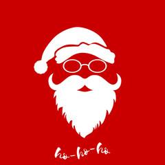Vector Santa's head with hat and beard.