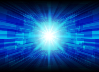 High-Tech blue line Background, abstract technology background, vector illustration background