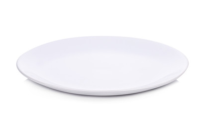 White plate isolate on white background