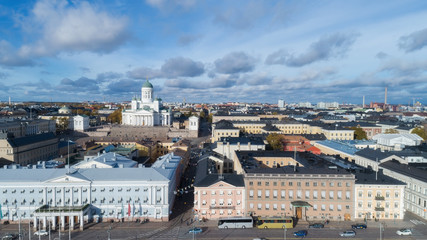 View of Helsinki Cathedral, aerial view