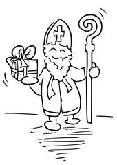 Sinterklaas feest kleurplaat