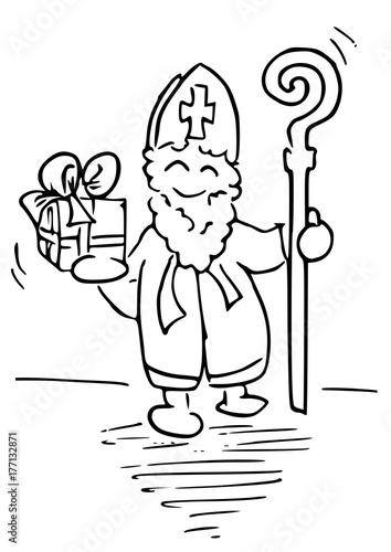 Sinterklaas Feest Kleurplaat Stock Image And Royalty Free Vector