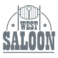 West saloon logo, vintage style