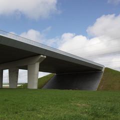 Modern viaduct in Holland