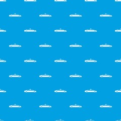 Wedding car decoration pattern seamless blue