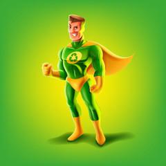 superhero recycle