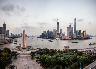 the bund and lujiazui,shanghai,china