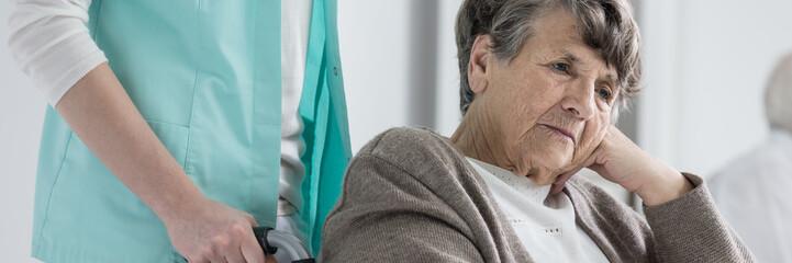 Senior lady suffering dementia