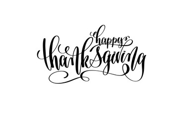 happy thanksgiving hand lettering inscription to october holiday