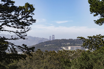 View of Golden Gate Bridge from Buena Vista Park