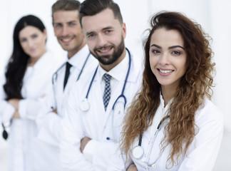 medical team on white background