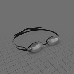 Plastic swimming googles
