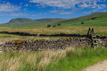 Pen-y-Ghent in the Yorkshire Dales up from the village of Stainforth