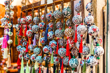Traditional turkish souvenir decoration on the market