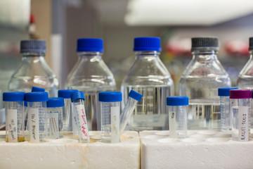 Sterile Bottles in Chemistry Lab