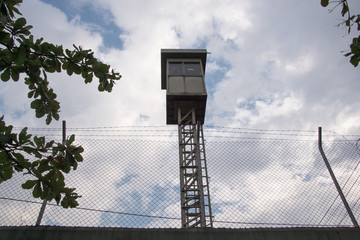 Surveillance tower at prison