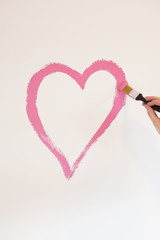 Painting A Heart On The Wall