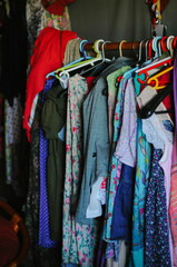 Clothes on the hangers