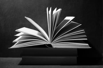 book on a dark monochrome background