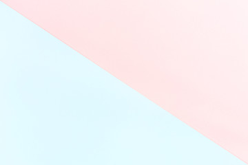 Double color blue and pink modern flat lay backgound