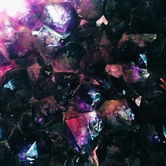 close up of sparkly quartz amethyst crystal