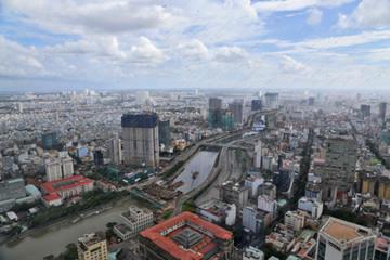 Panoramic view of Ho Chi Minh city (Saigon, Vietnam)